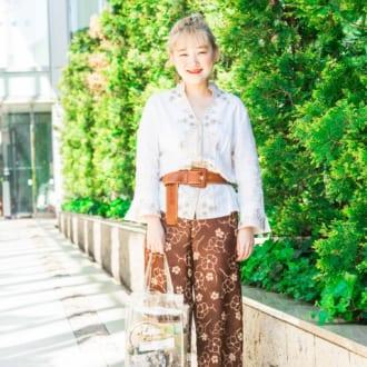 【Today's merSNAP】リゾート風が推し!刺繍シャツのアレンジコーデ