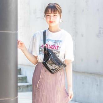 【Today's merSNAP】シフォンスカートの最旬スポーツMIXコーデ