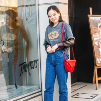 【Today's merSNAP】Tシャツ×デニムが女っぽくなるちょいテク♡