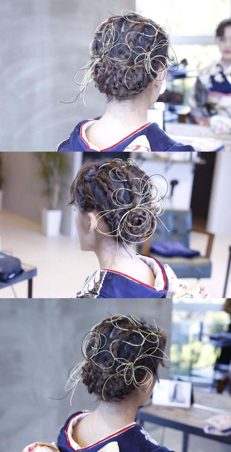 式 髪型 卒業