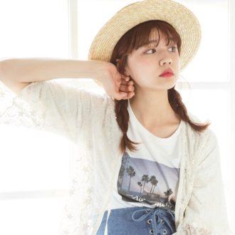 """どんな帽子にも似合う夏っぽアレンジは、実は""""三つ編み""""でした!"""