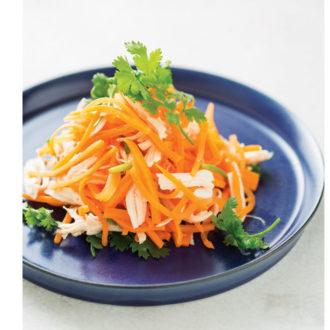 お疲れ肌に効く!夏に食べたい美肌レシピ ~人参とパクチーのエスニックサラダ~