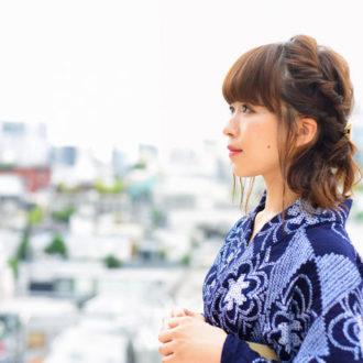 浴衣に似合うヘアアレンジ動画 ~ミディアム編① 編み込み風サイドアレンジ~