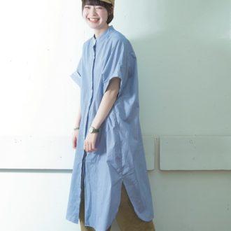 【明日のコーデ】長め丈シャツワンピの着まわし力は、小物使いで決まる!