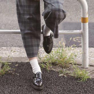 旬のチェックパンツと靴下が、1番オシャレにキマる絶対領域って?