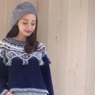 冬のデニムコーデは、ニット合わせでほんわか可愛く♡