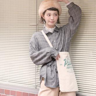 【明日のコーデ】ゆるいほうがかわいい♡ 王道チェックシャツ&ブラウスはINしない
