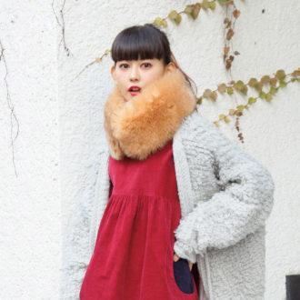 【2/9のコーデ】雪予報にはファーマフラーであったかわいく備える!