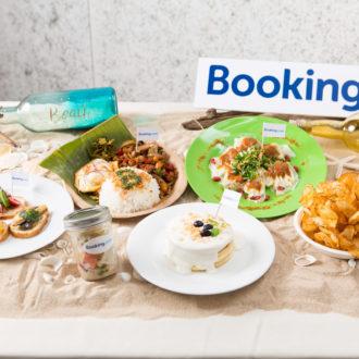 南国の雰囲気の中、世界各国の料理が楽しめる「Booking.com Cafe」が期間限定オープン