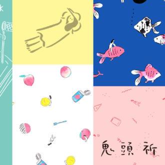 ゆるかわな日本画テイストが人気! イラストレーター・鬼頭祈×merlotコラボが癒される♡