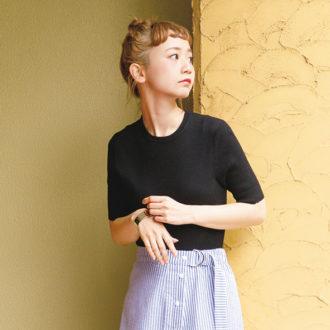 【明日のコーデ】女っぽ黒Tコーデがかわいすぎ♡