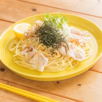 【料理レシピ動画vol.2】簡単・短時間で作れる!豚しゃぶとなめ茸の和風おろしパスタ