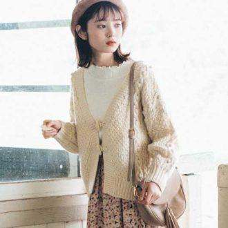 クリスプ ONLINE SHOP限定♡ 今すぐ使えるニットカーデ&花柄スカートのセットが超お得!