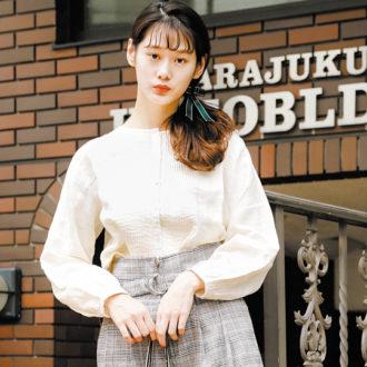 【明日のコーデ】人気チェックワイドパンツ シンプルに着るのが大人です!