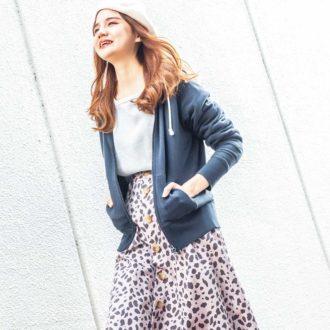 「レオパード柄スカート」をナチュラル可愛く着る方法3つ