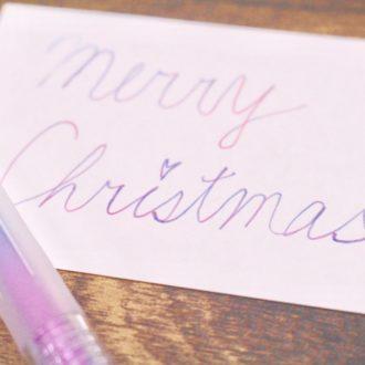 キラキラ?プックリ?不思議なペンで、気分がアガるX'masカードを作ろう♡