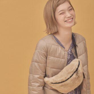 """【明日のコーデ】大人女子のスポーツMIXは""""ボア""""サコッシュ!"""