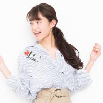 """阿部朱梨がDHOLICで発見☆ 春は、着まわせる""""刺繍シャツワンピ""""さえあればいい!"""