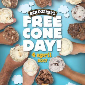 【FREE CONE DAY!】アイスが無料で食べられる!? 4/4はBEN&JERRY'Sへ急げ!
