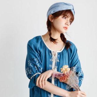 """OLIVE des OLIVE×村田倫子に学ぶ! 絶対オシャレに見える""""刺繍の着こなしルール""""♡"""