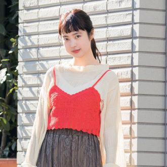 【5/25のコーデ】エアリーな透けスカートで週末までひとっ飛び!