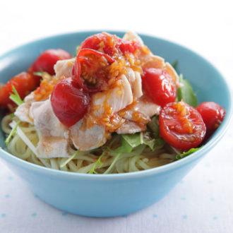 お疲れ肌に効く!夏に食べたい美肌レシピ ~豚しゃぶとトマトだれの冷やし中華~