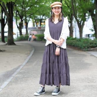 """【Today's merSNAP】ラクしたい日の最愛服♡ """"ティアードワンピ""""の大人カジュアルな着こなし方"""