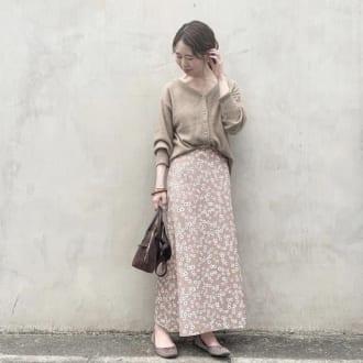 秋一番に着たいカラー♡ 「ベージュ」の上級者コーデ