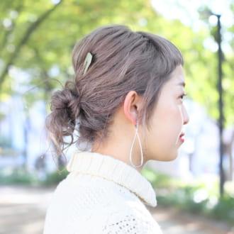 【ヘアアレSNAP】ヘアアクセで差を付ける♡ 簡単お団子アレンジ