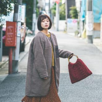 【12/13のコーデ】ロングボアコートでつくる高見えスタイル