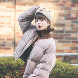 """【12/16のコーデ】ダウンはレトロな""""くすみピンク""""が旬"""