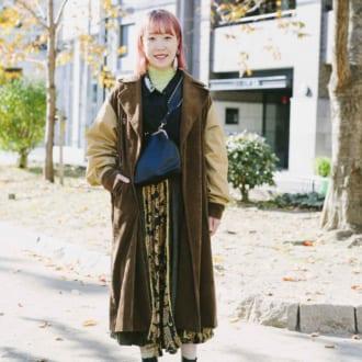 【Today's merSNAP】オシャレさんに習う♡ ブラウンコートの差がつく着こなし