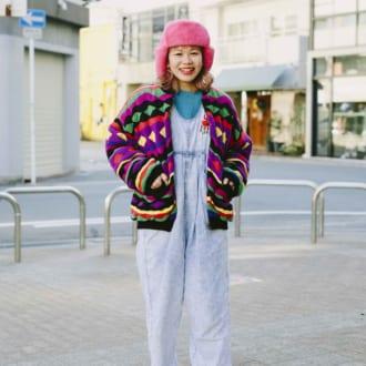 【Today's merSNAP】80sキッズがお手本♡ 古着屋スタッフの派手色コーデがオシャレ