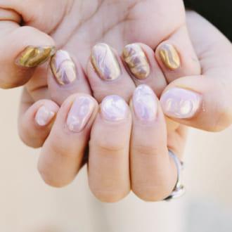 ミラーネイルを女性らしく♡ シンプル可愛いデザイン3選
