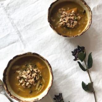 冬至に食べたいかぼちゃのレシピ  ―体ポカポカ かぼちゃのカレースープ―