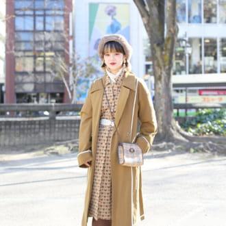 【Today's merSNAP】古着ワンピをレイヤードスタイルで今っぽく!