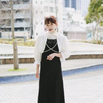 """【Today's merSNAP】""""透け""""はワンピで取り入れるが勝ち! 女っぽさ満点♡ モノトーンコーデ"""