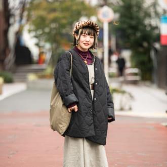 【Today's merSNAP】古着屋スタッフに学ぶ♡ 低身長でもキマるゆるずるコーデ