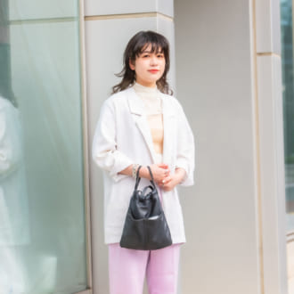 【Today's merSNAP】透けトップス×サテンが可愛い♡ 大人女子の春色コーデの作り方