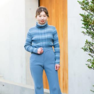 【Today's merSNAP】思わず目を引く! ブルーのワンツーコーデでシャレ感ゲット