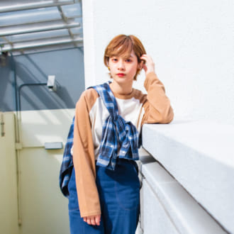 "【merlot古着部 vol.6】大人女子にオススメ! ラグランT×チェックシャツの""アメカジコーデ""が可愛い"