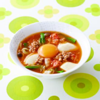 糖質オフ献立! 韓国気分が味わえる♡ 豆腐チゲ&ナムル