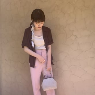 【Today's merSNAP】挑戦したい! ブラウン×ピンクのカラーコーデがオシャレすぎ♡