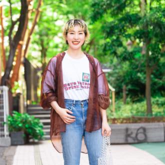 【Today's merSNAP】大人女子にオススメ♡ デニムコーデは「×透けシャツ」でシャレ感アップ!