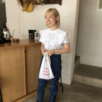 """【Today's merSNAP】これひとつでイメチェン! """"付け襟""""でTシャツコーデをガーリーに♡"""