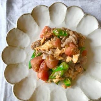 美味しいごはんで夏バテ知らず ―夏野菜と豚肉の卵炒めー