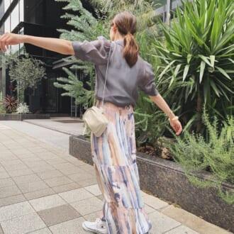 秋まで使える! オシャレさんが着こなす、3大トレンドスカート