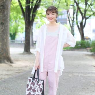 【Today's merSNAP】ラフで可愛い♡ 欲張り女子のピーチカラーコーデ