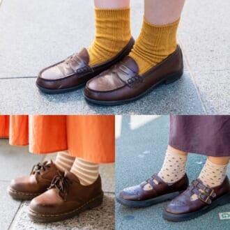 足元から秋色に! 「レザーシューズ×靴下」で叶えるワンランク上の洗練スタイル