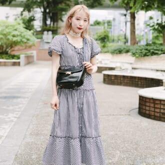 【Today's merSNAP】1枚でキマる♡ 大人女子のギンガムチェックのワンピースコーデ